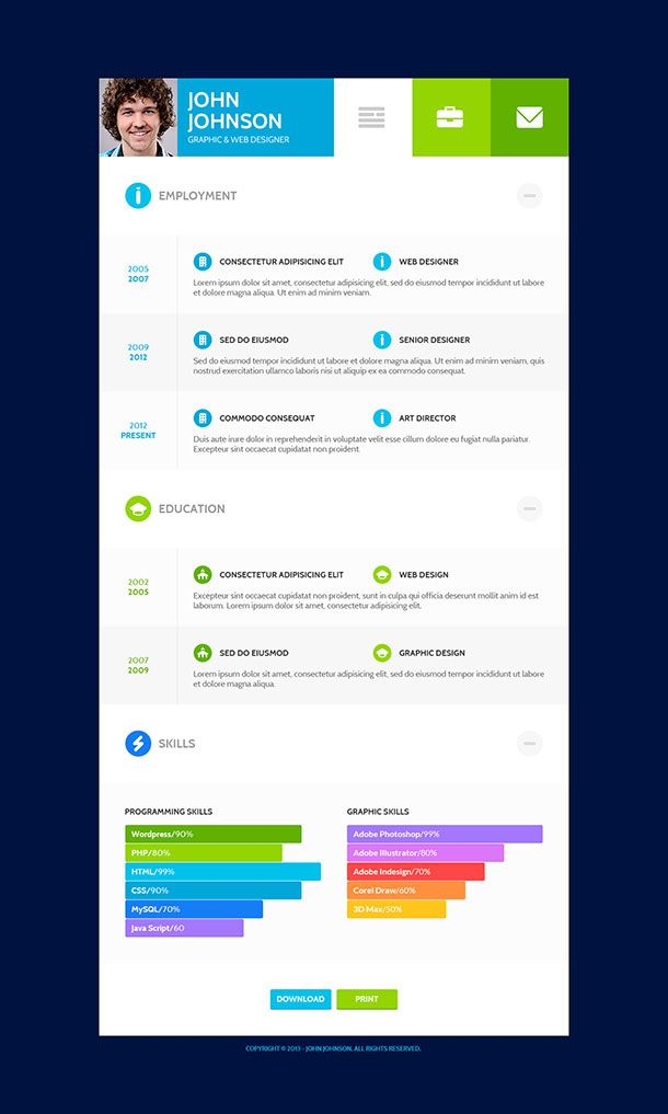 39 best Photoshop Resume Templates images on Pinterest Cleanses - wordpress resume themes