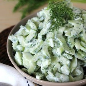 Creamy Cucumber Salad with Dill