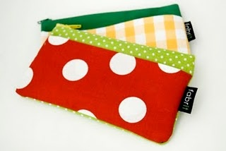 Colourful zipper wallets. €10, $13