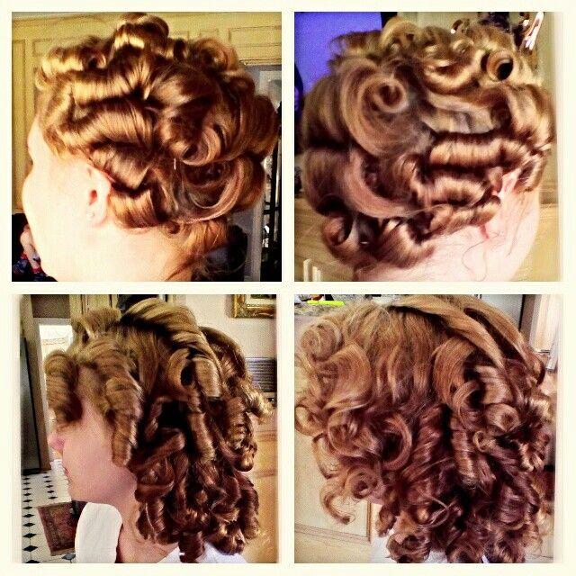 bobby pin curls ideas