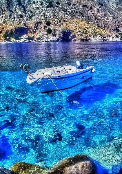 Boat in Loutro, south coast of Chania region, west Crete, Greece ✯ ωнιмѕу ѕαη∂у
