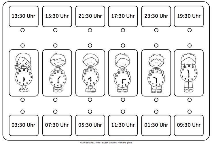 """Arbeitsblätter Uhr Ganze Stunden : Über ideen zu """"uhrzeit lernen auf pinterest"""