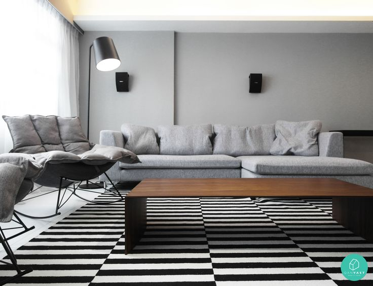 Grey Hues Black And White Stripes Combi