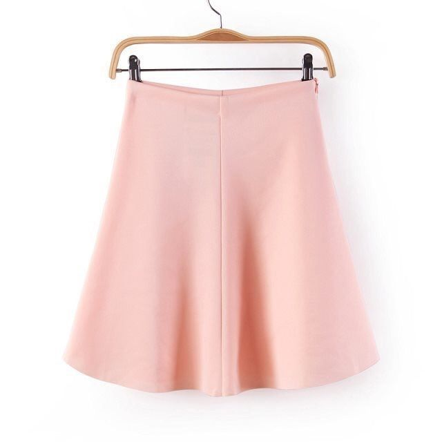 Buy from eBay or whatsapp 9718721059 Women s Simple Peach Pink Solid Above Knee Skirt From Urban Buy