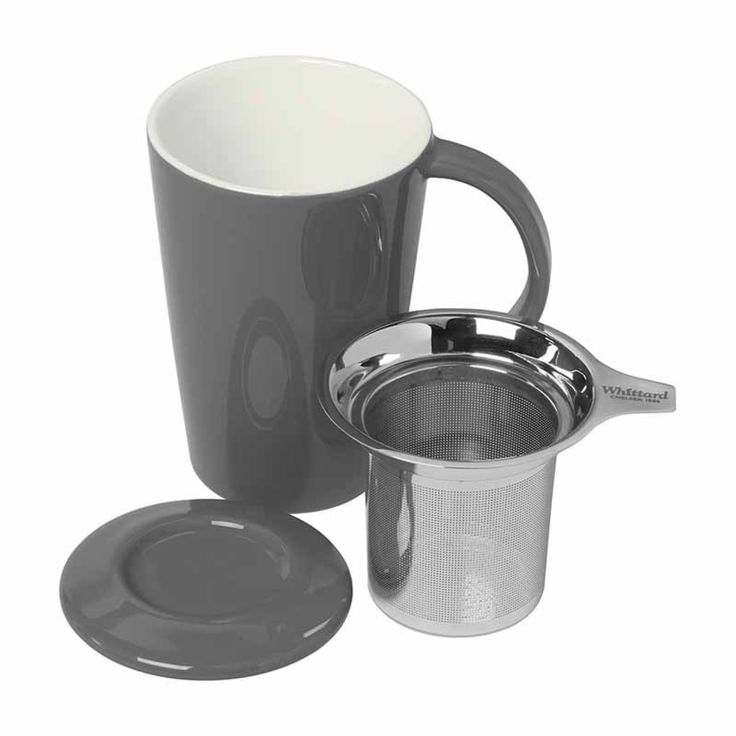Pao Infuser Mug in Grey | Tea Gifts | Whittard of Chelsea