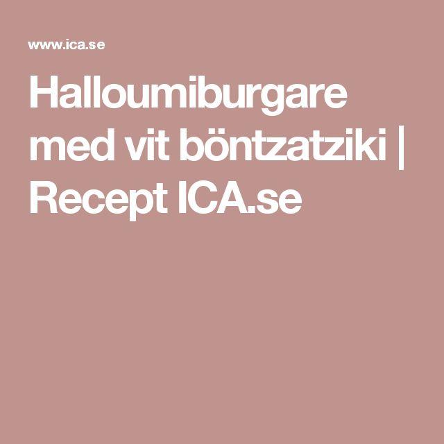 Halloumiburgare med vit böntzatziki | Recept ICA.se