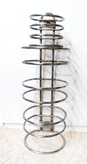 Vintage 1950's Plaza Towel Holder Stacking Hotel Towel Rack Chrome Industrial Retro Shabby via Orphaned Treasures Etsy
