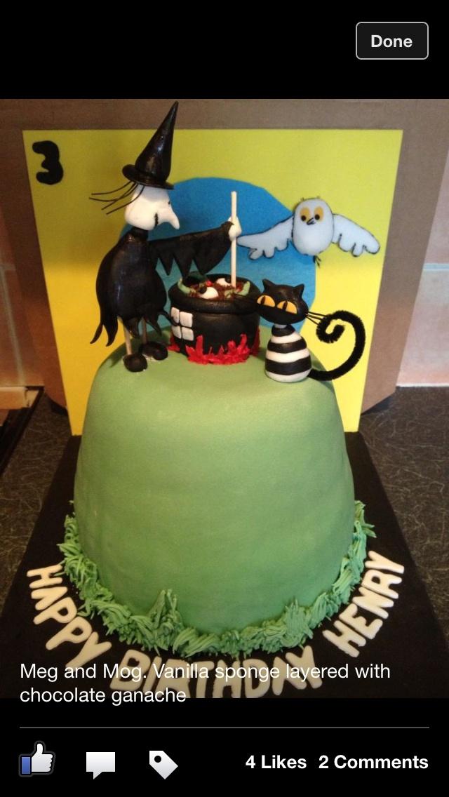 Meg And Mog Cake