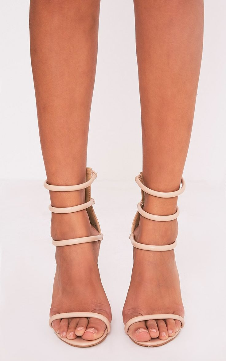 Nadine Nude Strappy Heeled Sandals Image 1