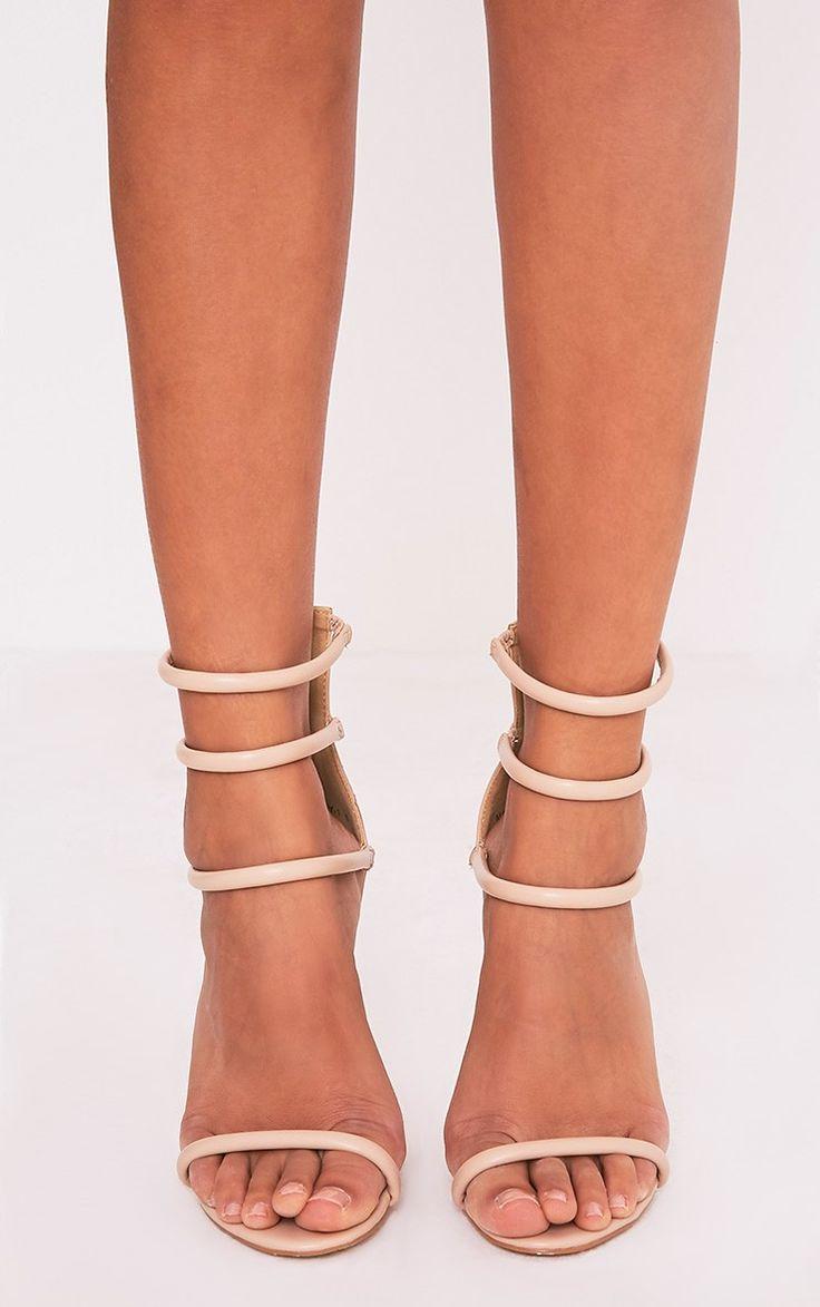 Nadine Nude Strappy Heeled Sandals Image 1