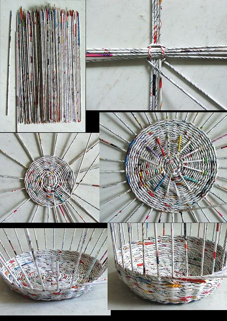 newspaper baskets cesta de papel