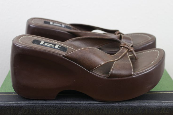 Vintage Platform Sandals | Retro 90s Vegan Leather Chunky Sandal | Size 9.5 UK 7.5 Euro 40