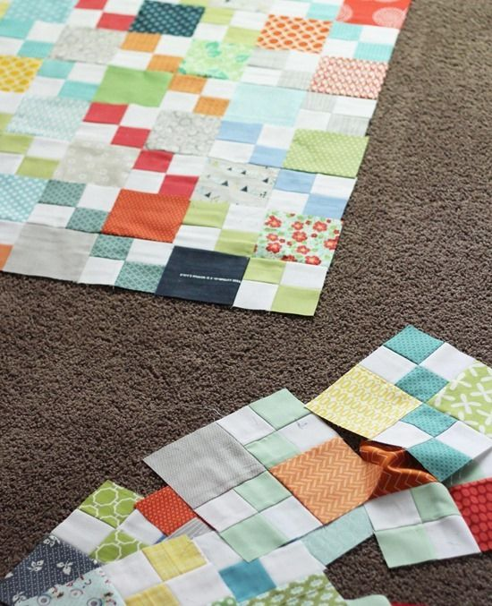 Easy Scrap Quilt Block Patterns : 17 Best images about Quilts - Four Patch on Pinterest Crib quilts, Easy quilts and Cluck cluck sew