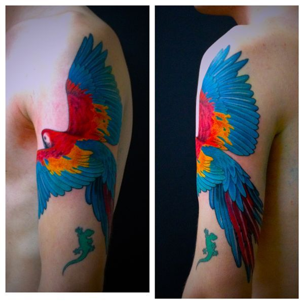 Image result for parrot tattoo