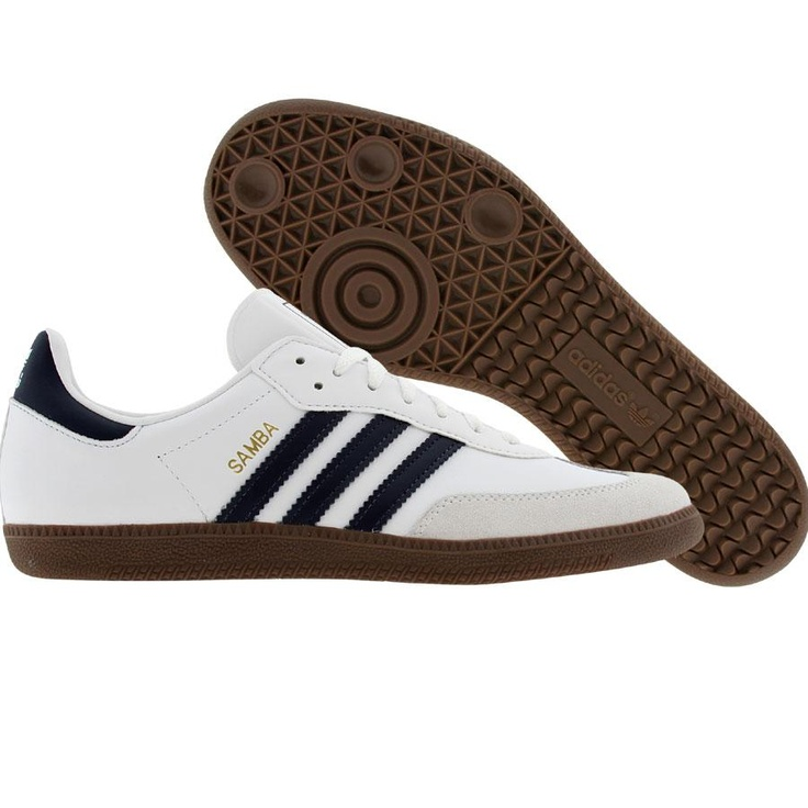 Adidas Samba (white / new navy / gum5) G19472 - $64.99