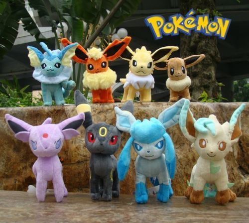 "8 Pcs Nintendo Pokemon Plush Toy Eevee Set 6.5"" Cuddly Stuffed Animal Doll Rare"