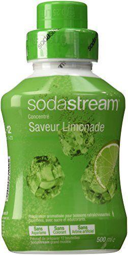 Sodastream Concentré Sirop Saveur Limonade pour Machine à Soda 500 ml: Goût : Fruits rougesComposition : sucre, eau, acidifiant, (acide…