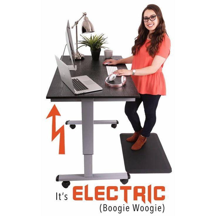 Tranzendesk Electric - 47 inch - Full Sized Standing Desk (Black/Silver, Electric)
