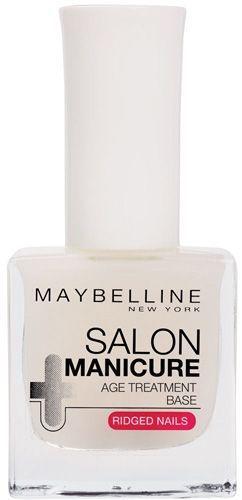 Το Maybelline Salon Manicure Age Treatment Base λευκαίνει και ενδυναμώνει τα αδύναμα νύχια. Ταυτόχρονα, λειαίνει τις γραμμές και τις ανομοιομορφίες, που έχουν προκληθεί στα νύχια. Η εμπλουτισμένη με κίτρο σύστασή του και με χρωστικές που φωτίζουν τα νύχια σας, χαρίζουν επαγγελματική περιπο