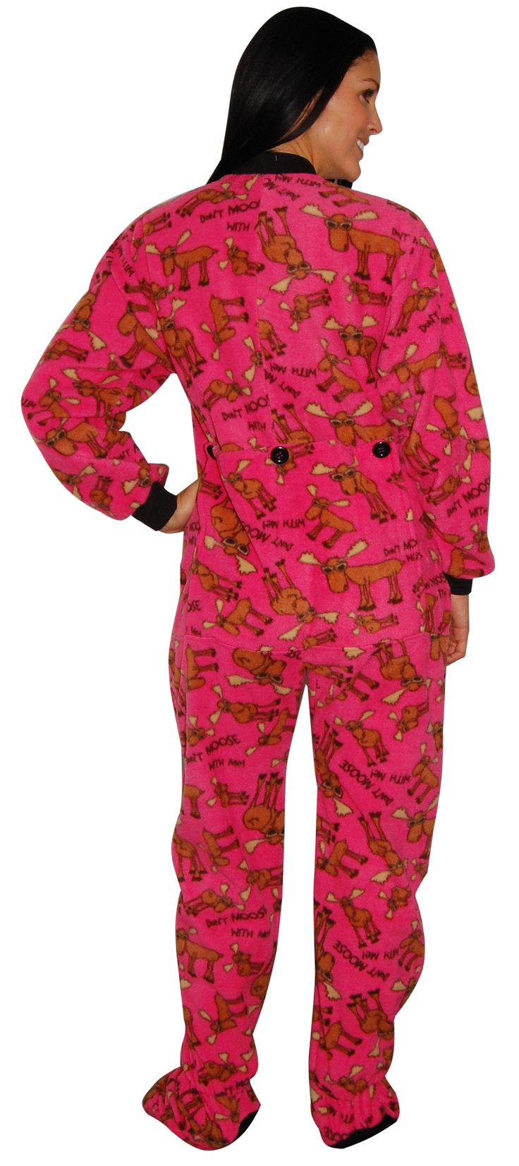 Lazy One Don't Moose Women's Footed Pajama