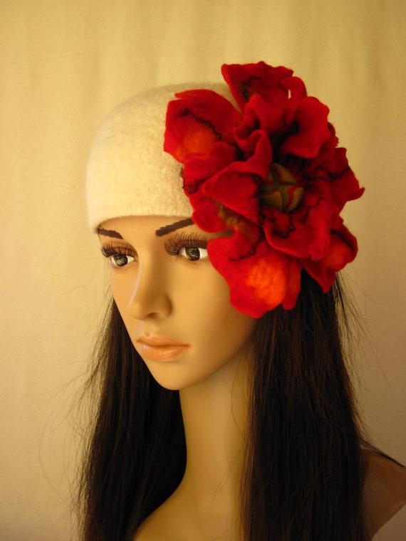 Felt poppy headband