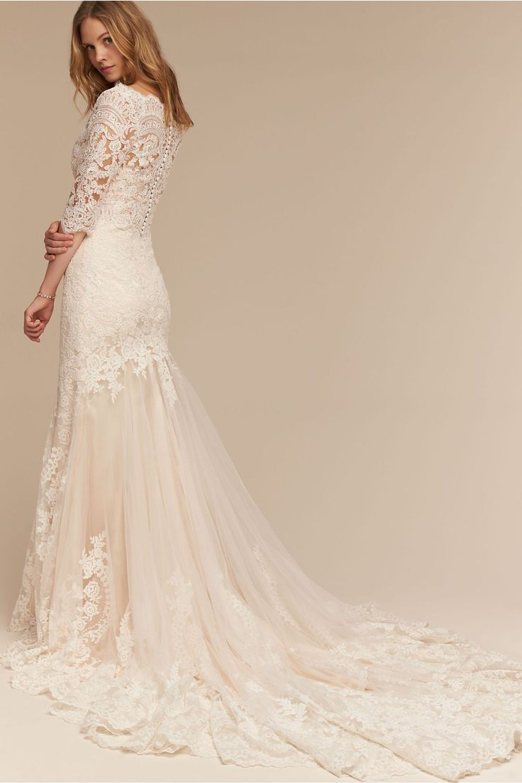Bhldn leigh gown in bride wedding dresses bhldn merry for Bhldn used wedding dresses