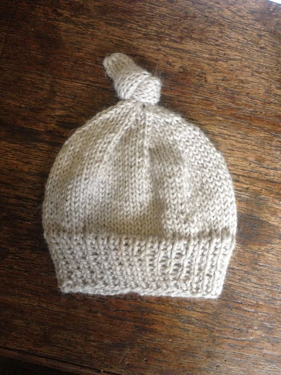 Baby alpaca knit hat by FrostandFibre on Etsy