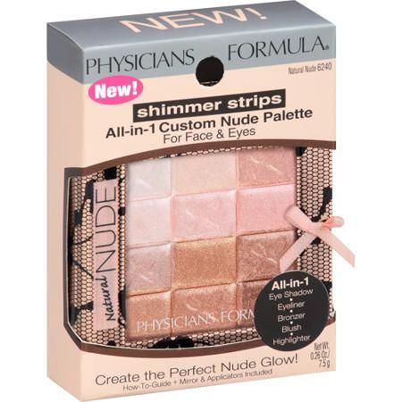 Physicians Formula Shimmer Strips for Face & Eyes, in Natural Nude - HIGHLIGHTER - kathleenlights