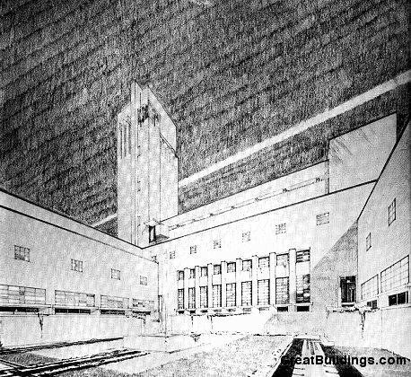 Great Buildings Drawing - Town Hall Hilversum