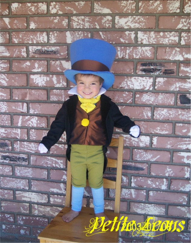 Jiminy Cricket from Pinocchio Costume with Wellington Style Top Hat