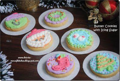 KRISTA MOCAF KITCHEN: Mocaf Butter Cookies with Icing Sugar - Gluten Fre...