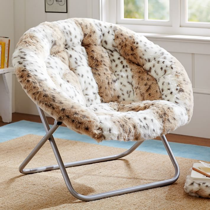 Get Cozy This Fall Our Soft Snow Leopard Faux Chair