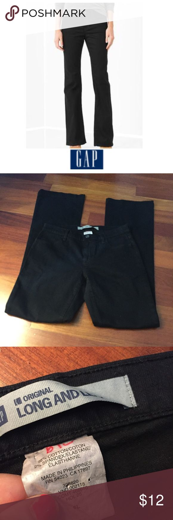 GAP Tall Long and Lean Black Jeans GAP Tall Long and Lean Black Jeans. 9 inch rise, Mid Rise. 35 inch inseam. Gently worn. Great condition. Feel free to make an offer or bundle & save! GAP Jeans Boot Cut