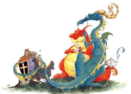 El dragón le invita a Sant Jordi a un té... habría cambiado la historia.