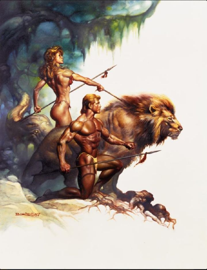 BORIS VALLEJO - Zodiac - Leo - 1987 - interior from Twin Visions