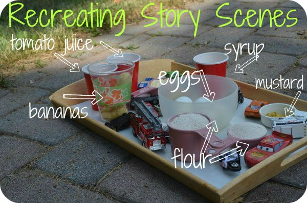 Recreating a scene from Richard Scarry's classic Cars and Trucks and Things That Go: The Pleasantest Thing: Books, Classic Cars, Preschool Kindergarten, Language Art, Outdoor Messy Plays, Homeschool Ideas Info, Cars And Trucks, Early Language, Reading Lang Art