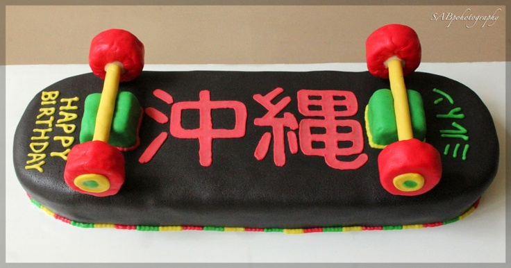 Cool Skateboard cake idea I need to store up for the future (not like Back to the Future...although this would be a cool cake idea for a party with that theme)