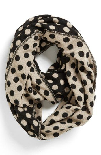 Tildon Polka Dot Infinity Scarf available at #Nordstrom