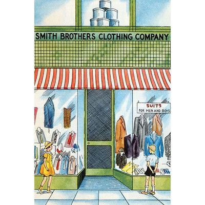 "Buyenlarge 'Smith Brothers Clothing Company' by Julia Letheld Hahn Painting Print Size: 66"" H x 44"" W"