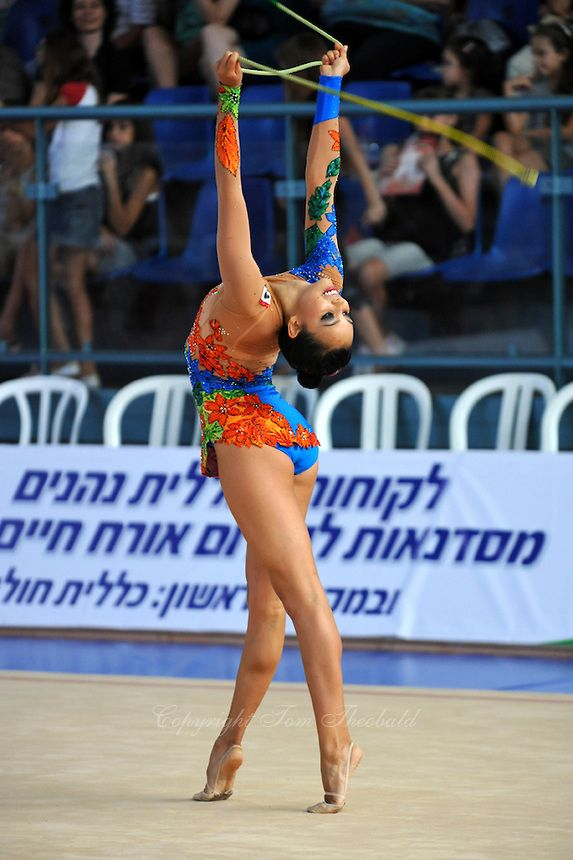 Rut Castillo of Mexico performs with rope 2010 Holon Grand Prix at Holon