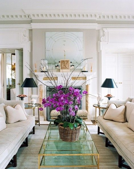 Perfectly Drawn Purple Orchids Fireplaces And The Mansion