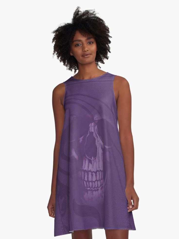Old Style Design  with Skull • Also buy this artwork on apparel, stickers, phone cases, and more. #dress #fashion #style #giftsforher #family #women #woman #alinedress #gothic #purple #clothing #redbubble #scardesign #art #artist #shopping #online