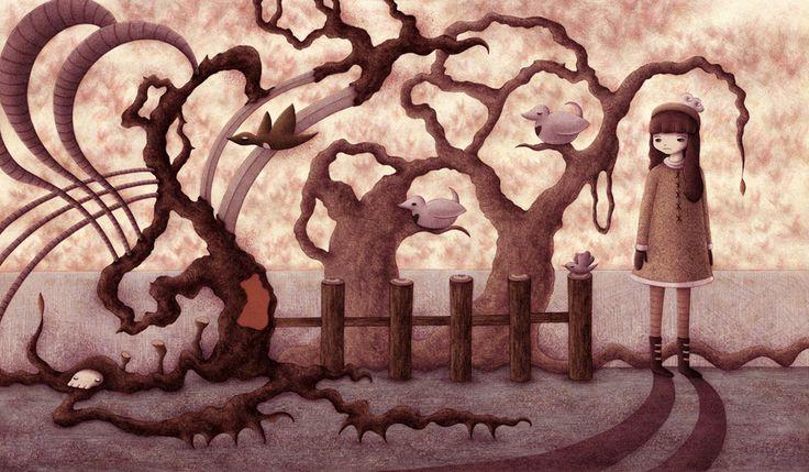 Fall Scene by o0Amphigory0o on DeviantArt