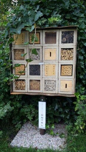 """Insect hotel _ Insektenhotel """"Zum Hochbeet"""" We love hotels! Also see http://www.falkensteiner.com"""