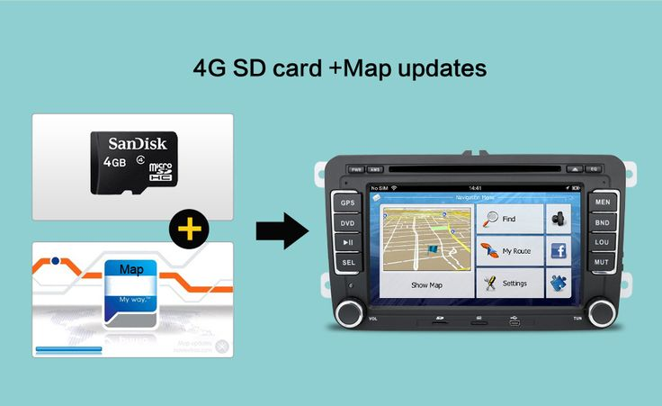 GPS Function Online map, free to update Drive wherever you like GPS map card including maps as gift
