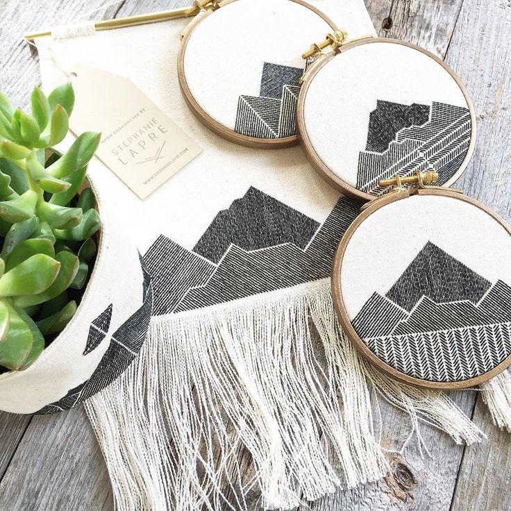 Mountain embroidery