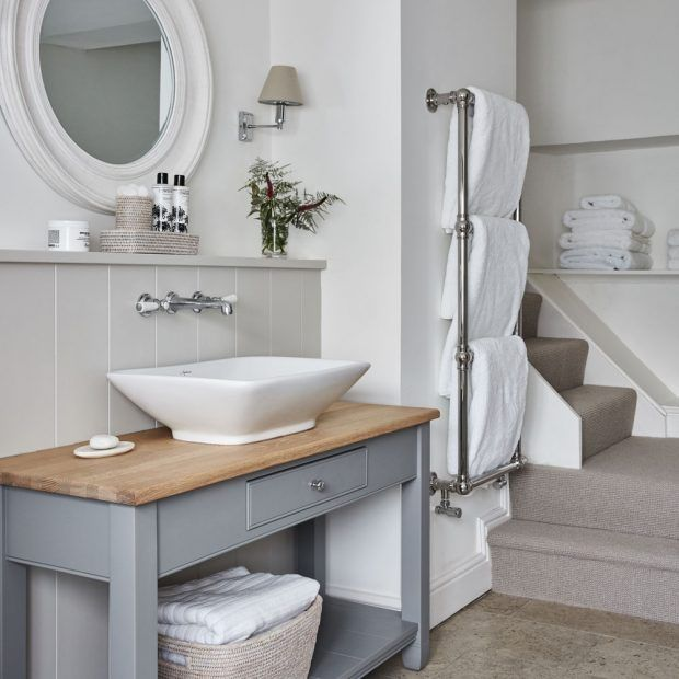 Modern Country Style Cotswold House Tour Guest bathroom  Click through for details...