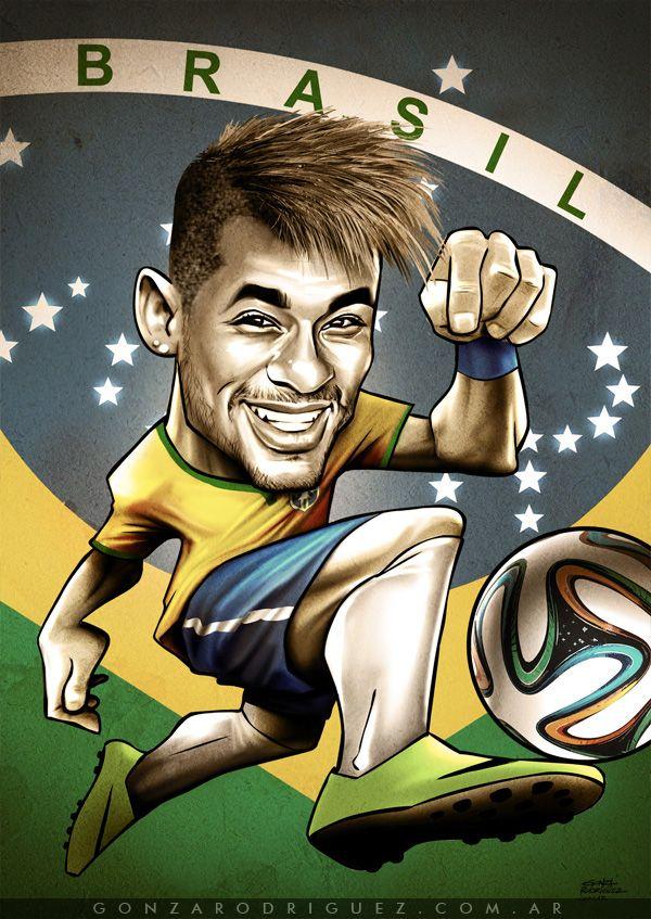 Brasil 2014 Caricatured