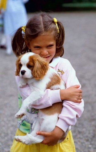 Crown Princess Victoria with her puppy
