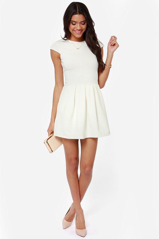 Black Swan Lily Ivory Dress at LuLus.com!